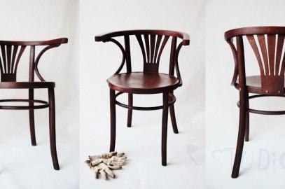 krzesło z łatką